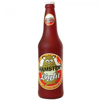 "Silly Squeakers Виниловая игрушка-пищалка для собак Бутылка пива ""Хомячок зажигает"" (Beer Bottle Hamster Light) SS-BB-HL"