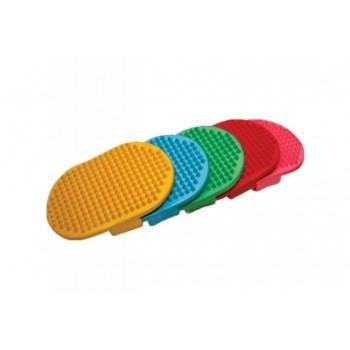 Зооник 722 Щетка овальная резиновая цветная