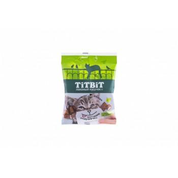 TitBit / ТитБит Хрустящие подушечки для кошек с паштетом из индейки 30 г