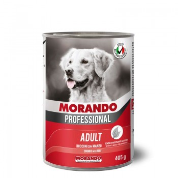Morando / Морандо Professional консервированный корм для собак с кусочками говядины, 405г, жб