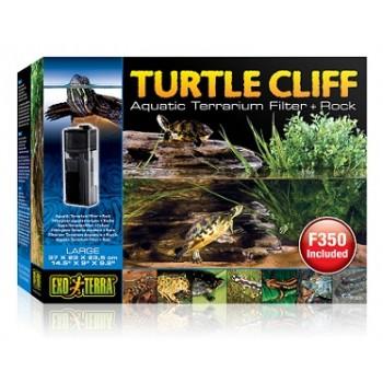"""Hagen / Хаген черепашья скала """"Turtle-Cliff"""" с фильтром для воды большая"""