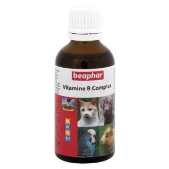 Beaphar / Беафар Витаминный комплекс гр. в «Vitamine-B-Complex» д/собак, кошек, грызунов, птиц, 50мл