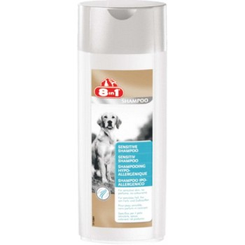 8in1 шампунь для собак Sensitive Shampoo для чувствительной кожи и шерсти 250 мл