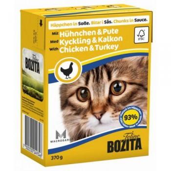 Bozita / Бозита кон.д/кошек Кусочки в соусе Курица и индейка 370гр