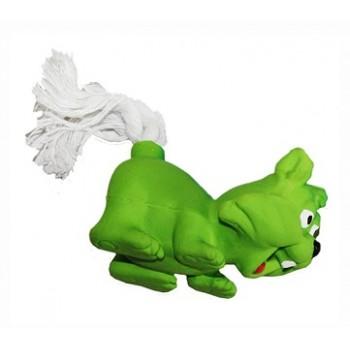 """Ziver / Зивер Игрушка """"Лиса с веревочным хвостом зеленая"""", 12 см"""