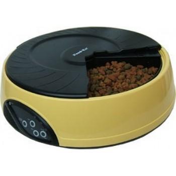Feedex / Фидекс Автокормушка на 4 кормления для 1,-1,2кг корма Желтая PF2Y