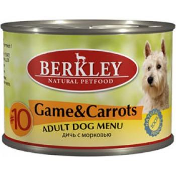 Berkley / Беркли кон. д/собак дичь с морковью №10 200гр