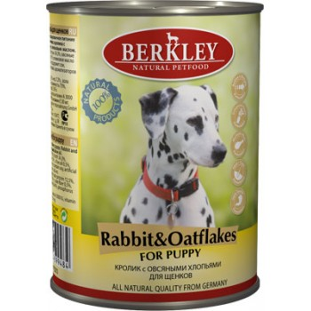 Berkley / Беркли кон. д/щенков кролик с овсяными хлопьями 400гр