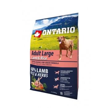 Ontario / Онтарио для собак крупных пород с ягненком, индейкой и рисом 2,25 кг