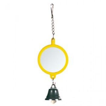 Trixie / Трикси Игрушка д/птиц Зеркало с колокольчиком, пластик ф8см 5216