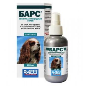 БАРС Спрей инсектоакарицидный для собак, 100 мл, флакон в коробке