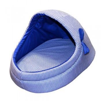 Зооник Тапок поролон/тиси принт(синий) с бантиком (36х53х33)