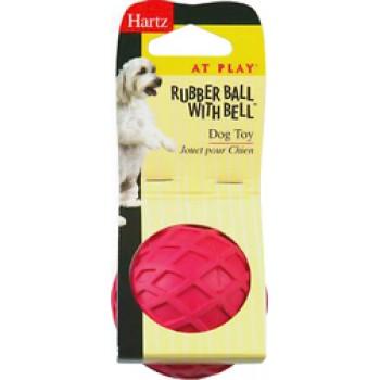 Hartz / Хартц Игрушка д/собак - Мяч с колокольчиком, каучук Rubber Ball With Bell Dog Toy