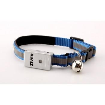 Ziver / Зивер 402 Ошейник светящийся со светосенсором, голубой 1,2х30см