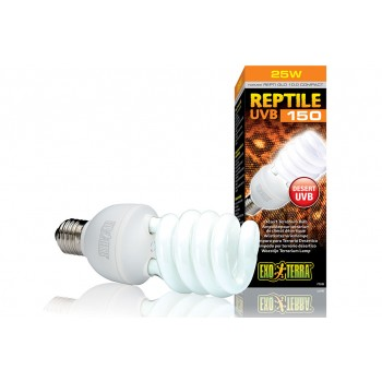 Exo Terra / Экзо Терра Лампа Reptile UVB150 former UVB10.0 Compact, 25 W /для пустынного террариума/ PT2189