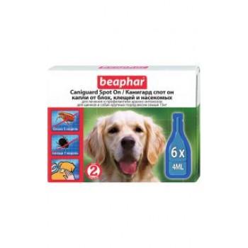 Beaphar / Беафар Капли «Канигард» от блох и клещей д/собак и щенков крупных пород, 6 пипеток