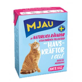 Mjau / Мяу мясные кусочки в желе с лангустом в упаковке Tetra Recart, 380гр. (1х16) 3809