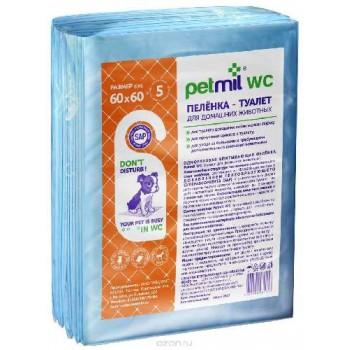 Петмил Пеленка впитывающая одноразовая с суперабсорбентом 60*60*5шт