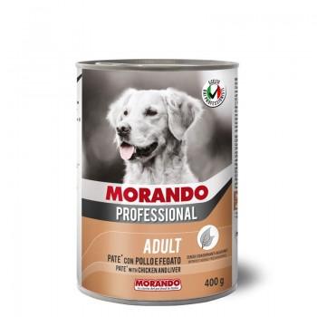 Morando / Морандо Professional консервированный корм для собак паштет с курицей и печенью, 400г, жб