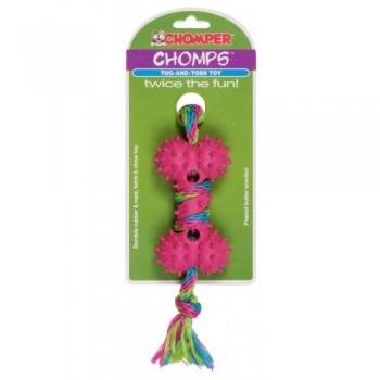 Chomper / Чомпер Игрушка веревочная с резиновой костью для собак (хлопок, каучук)