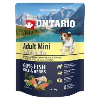 Ontario / Онтарио для собак малых пород с 7 видами рыбы и рисом 0,75 кг