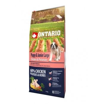 Ontario / Онтарио для щенков крупных пород с курицей и картофелем 12 кг