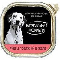 Натуральная формула кон.д/собак Рубец говяжий в желе 300 гр