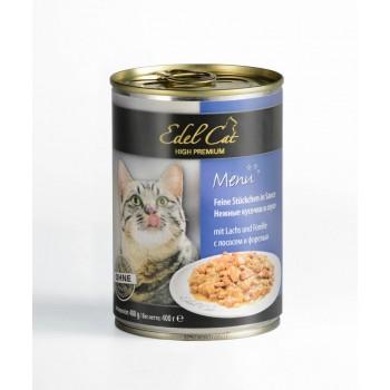 Edel Cat / Эдель Кэт нежные кусочки в соусе /лосось форель/ - 0,4 кг