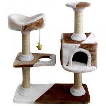 FAUNA INT / Фауна Интернешнл CAMILA Игровая площадка для кошек бежево/коричневая 73х40х105см FICP-163