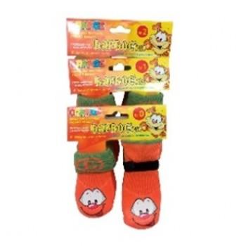 БАРБОСки носки д/собак, высокое латексное покрытие, оранжевые с принтом, размер - 2