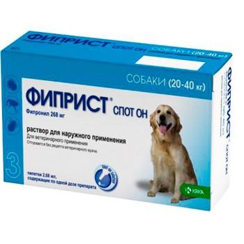 ФИПРИСТ KRKA спот он для собак весом 20-40 кг капли от блох и клещей 268 мг (фипронил)