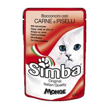 Simba / Симба Cat паучи для кошек мясо с горохом 100 г