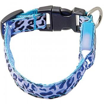 V.I.Pet Ошейник светящийся «Леопард», 15 мм, (18-28 см) 14-3100S 14-3100S
