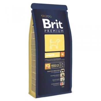 Brit / Брит Premium Junior M для молодых собак средних пород (2-12 мес), 18 кг