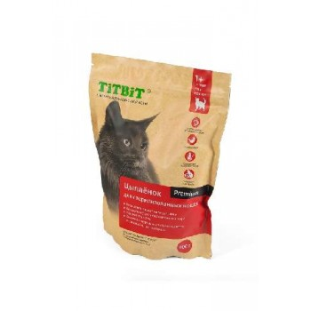 TitBit / ТитБит Корм сухой для стерилизованных кошек с мясом Цыпленка 0,4 кг