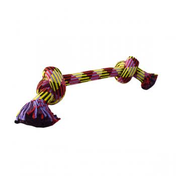 """Papillon / Папиллон Игрушка для собак """"Плетеная цветная веревка с двумя узлами"""", 41 см"""
