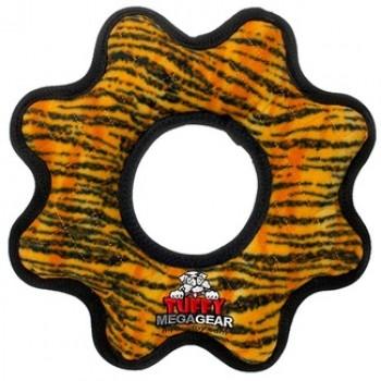 Tuffy / Таффи Супер прочная игрушка для собак Шестеренка, узор тигр, прочность 10/10
