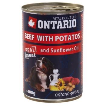 Ontario / Онтарио Консервы для собак: говядина и картофель 0,4 кг