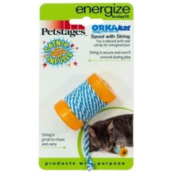 """Petstages / Петстейджес игрушка для кошек Energize """"ОРКА катушка с веревочкой"""" 6 см"""