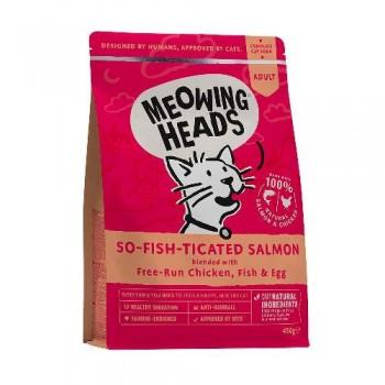 """Barking Heads / Баркинг Хедс Для Взрослых кошек с Лососем, курицей и рисом """"Фиш-гурман"""" (So-fish-ticated Salmon 450g), 450 гр"""