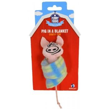 """R2P игрушка для кошек Funny Farms """"Свинка в одеяле"""""""