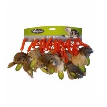 Papillon / Папиллон Мышонок-мягкая шорстка, натур. Мех кролик, 9 см, цвет в ассорт.