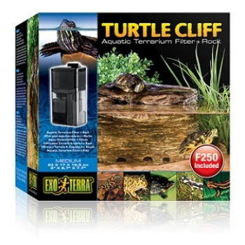 """Hagen / Хаген черепашья скала """"Turtle-Cliff"""" с фильтром для воды средняя"""