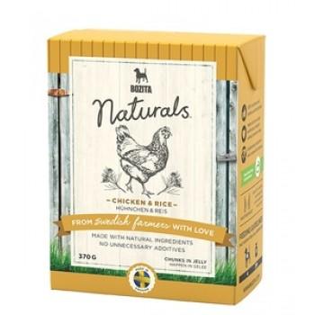 Bozita / Бозита 4262 Naturals кон.д/собак кусочки в желе с Курицей и рисом 370г