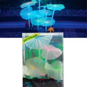 Jelly-Fish / Джелли-Фиш Листья лотоса голубые силиконовые (4 шт), 7*3,5*10 см