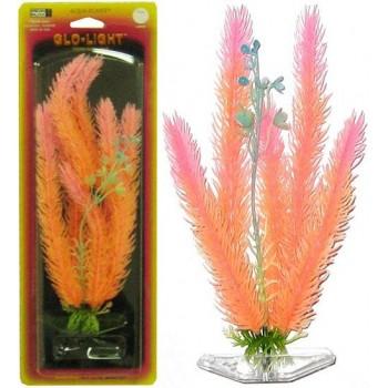Penn-Plax / Пен-Плакс Растение CLUB MOSS 18 см оранжево-розовый светящийся пластик P8SGL