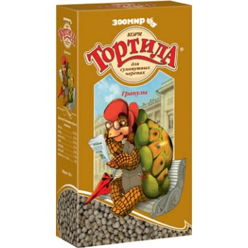 `Тортила` гранулы корм для сухопутных черепах 150 г (1х24) 903 (Зоомир)