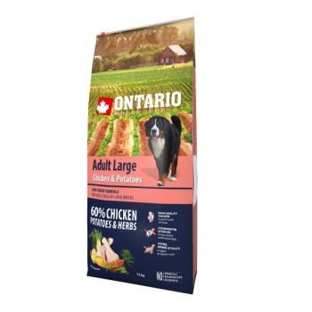 Ontario / Онтарио для собак крупных пород с курицей и картофелем 12 кг