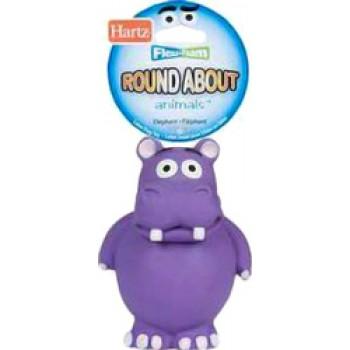 Hartz / Хартц Игрушка для собак - бегемот, латекс с наполнителем, маленькая Round about animals Flexa-Foam dog toys Hippo small