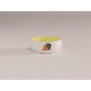 Beeztees / Бизтис 801641 Миска керамическая с изображением морской свинки, желтая 160мл*10см
